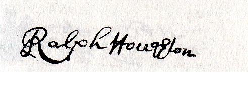 Ralph Houghton Signature